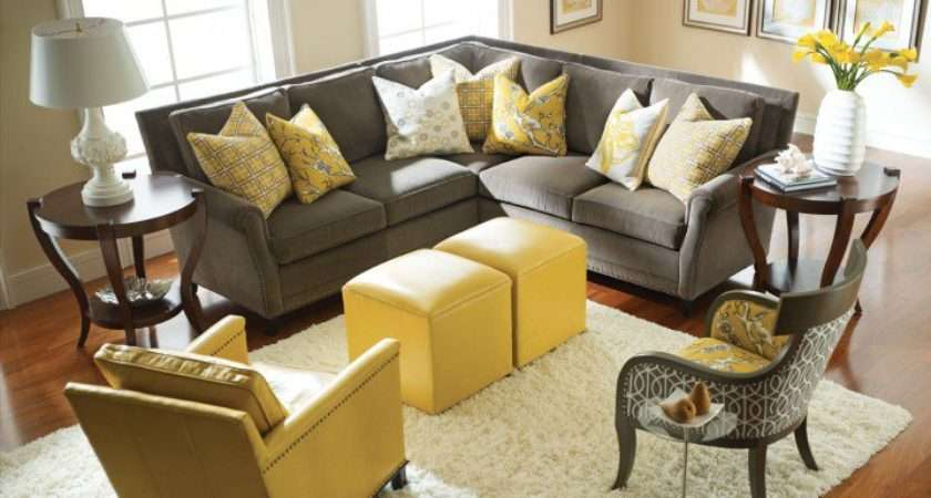 Modern Grey Yellow Living Room Designs Top Dreamer