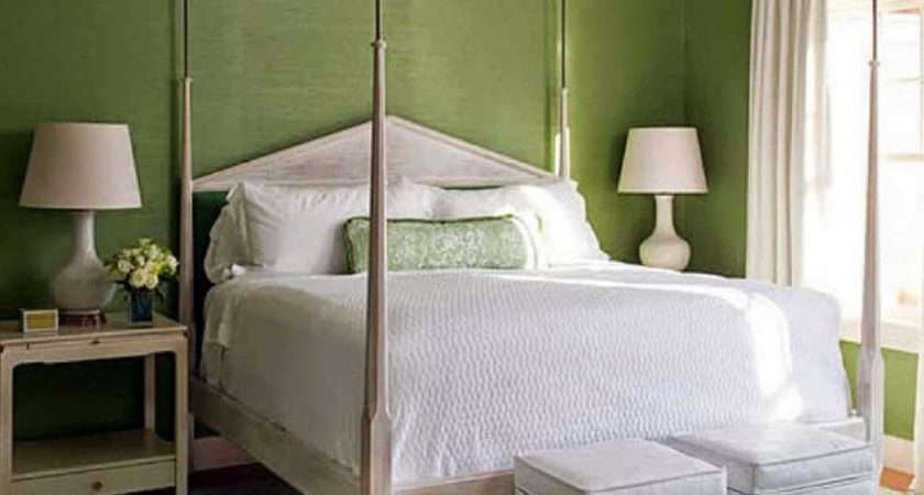 Modern Home Decor Bedroom Green Wall Paint