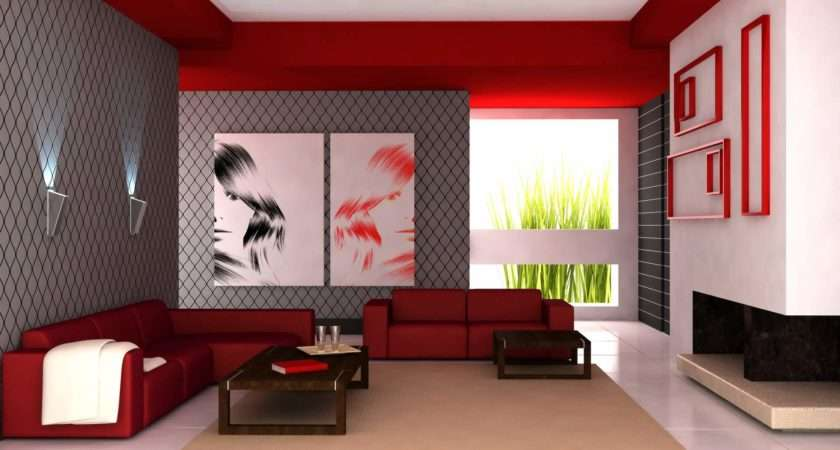 Modern Home Living Room Paint Colors Design Red Scheme Bedroom Color