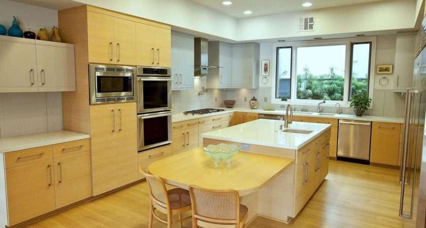 Modern Kitchen Oak Cabinets Flooring Scandinavian