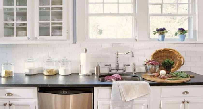 Modern Kitchens Subway Tile Backsplash Kitchen White
