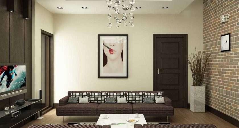 Modern Living Room Art Brick Wall Decor