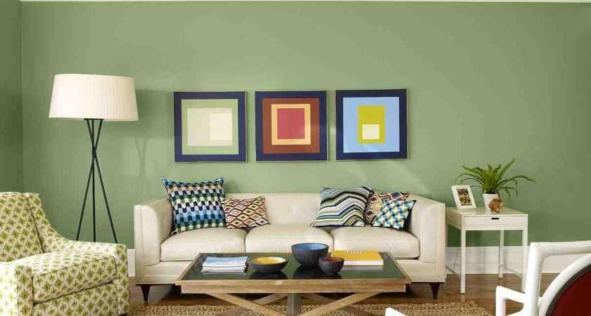 Modern Living Room Olive Green Color Schemes