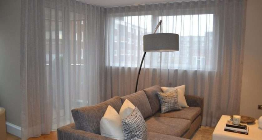 Modern Living Room Voile Curtains Popular Lightweight