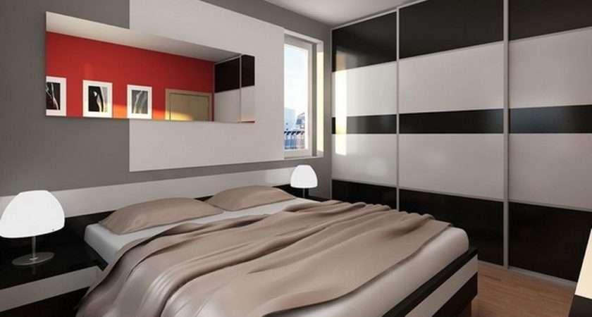 Modern Mens Bedroom Monochrome Wall Closet