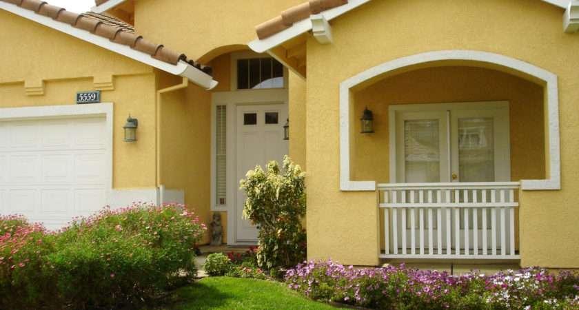 Modern Minimalist Design Yellow Painting Outside