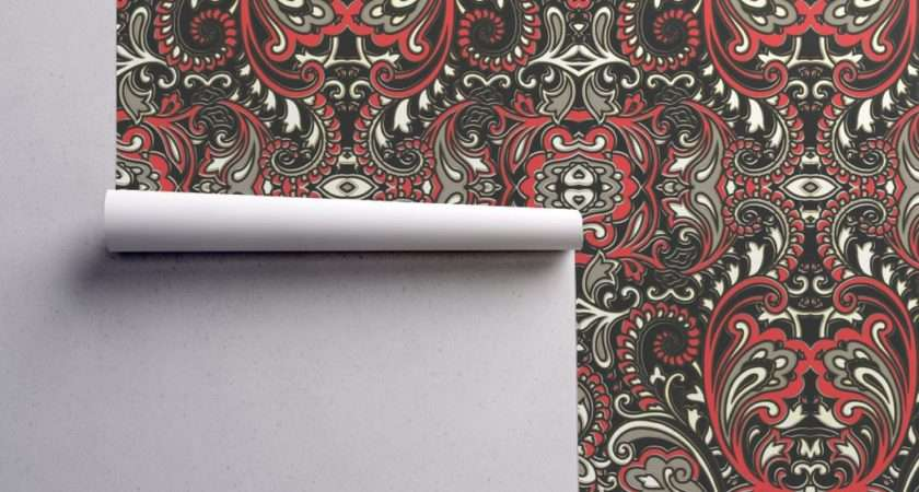 Modern Paisley Whimzwhirled Spoonflower