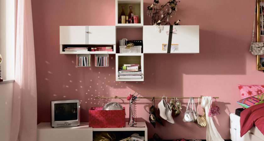 Modern Pink Girls Bedroom Ideas Teenage