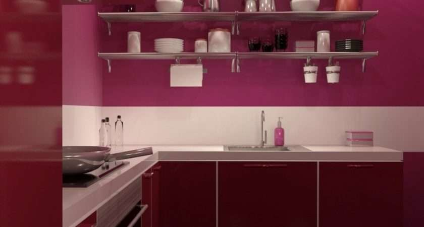 Modern Pink Red Ikea Faktum Kitchen Cuisine Pinterest