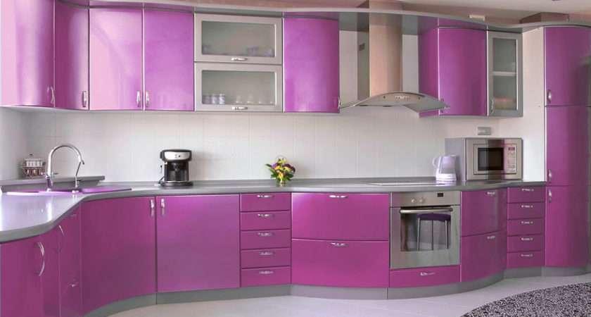 Modern Purple Kitchens Design Ideas