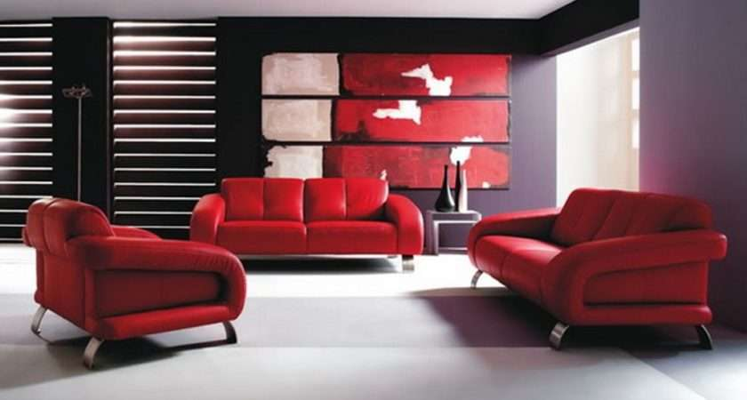 Modern Red Living Room Ideas Leather Sofa Grey