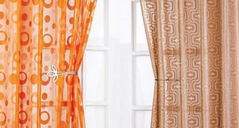Modern Retro Voile Curtain Panel Same