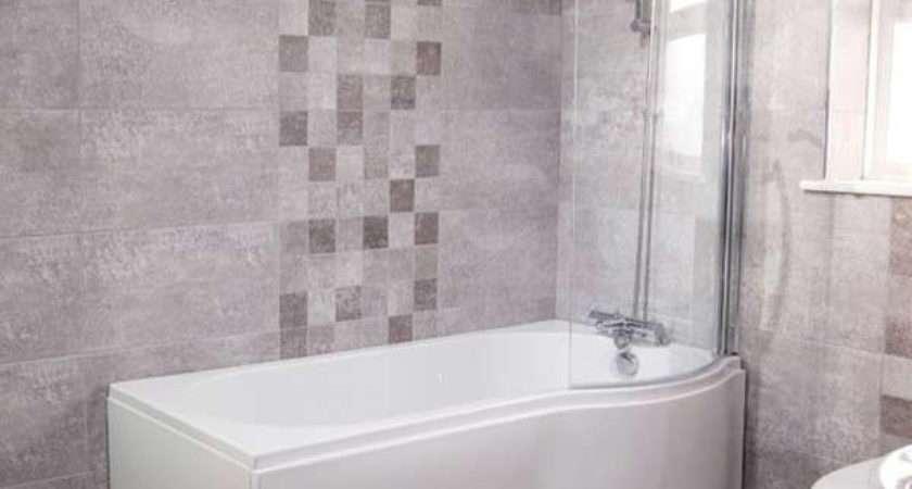 Modern Right Hand Shaped Shower Bath