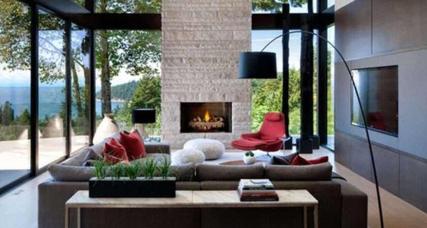 Modern Rustic Living Room Design Decor