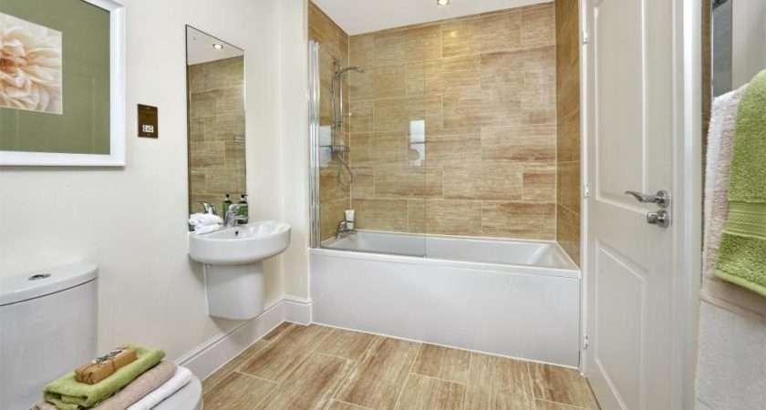 Modern Small Beige White Bathroom
