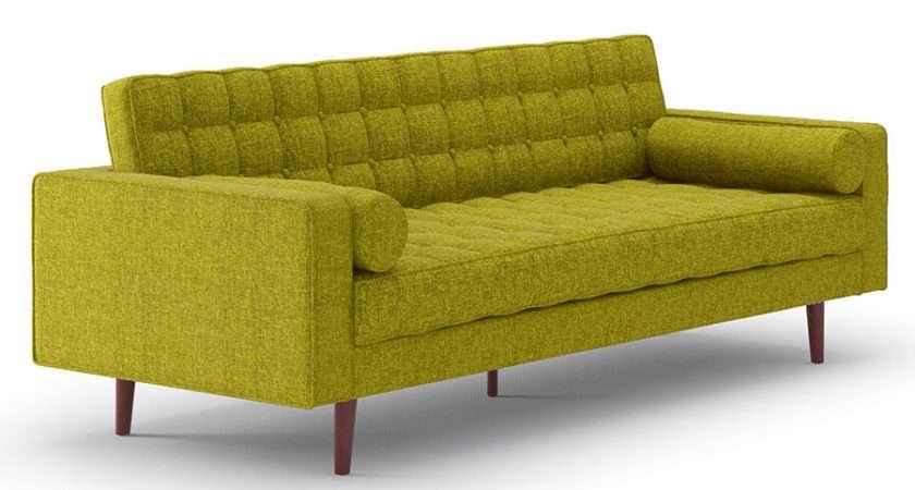 Modern Sofas Lebron Green Fabric Sofa Eurway