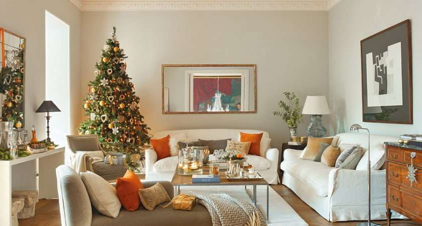 Modern Spanish House Decorated Christmas Digsdigs