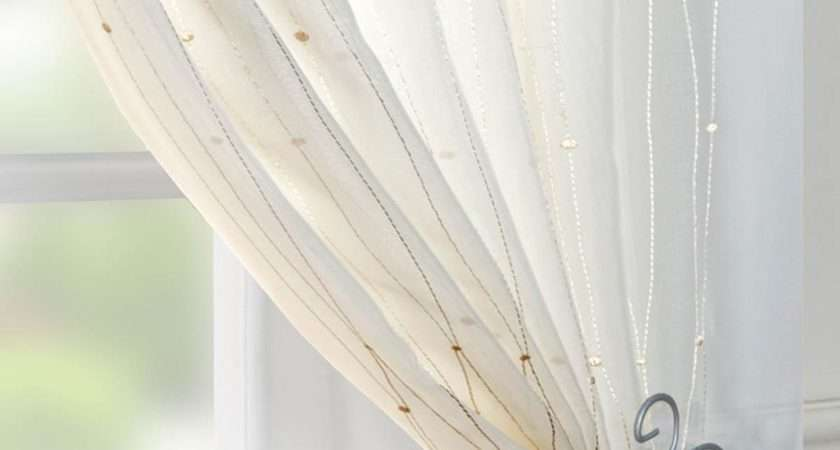 Modern Voile Curtains Cream House Plan