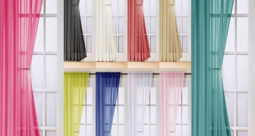Modern Voile Panel Curtains Great Designs Drops