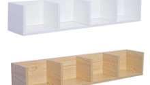 Modern Wall Mount Storage Shelf Dvd Media Rack