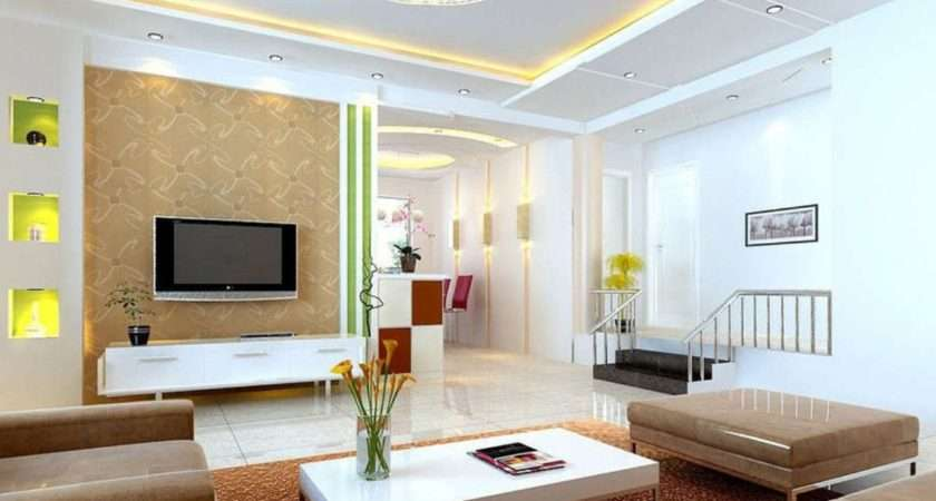 Modern Walls Designs Living Room Showcase