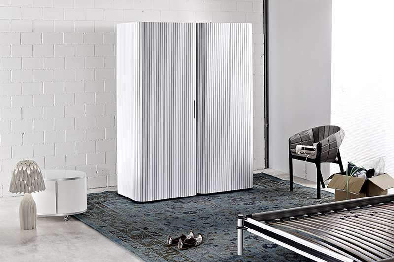 Modern Wardrobe Design Roller Door System Interior