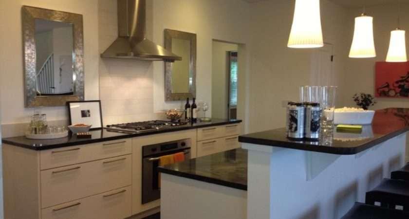 Modern White Galley Kitchen Contemporary