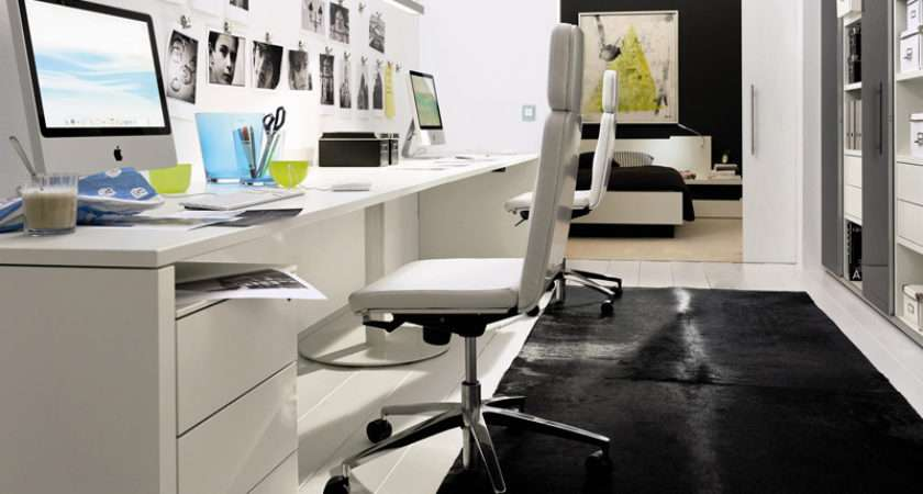 Modern White Home Office Decorating Ideas Best Decor