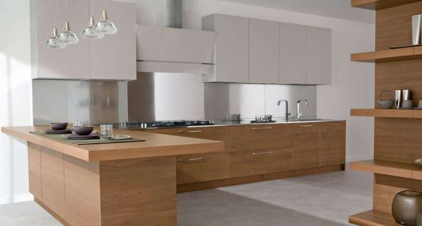 Modern Wood Lacquered Kitchen Design Ideas Home Like