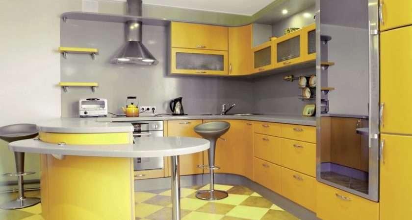 Modern Yellow Kitchens Design Ideas