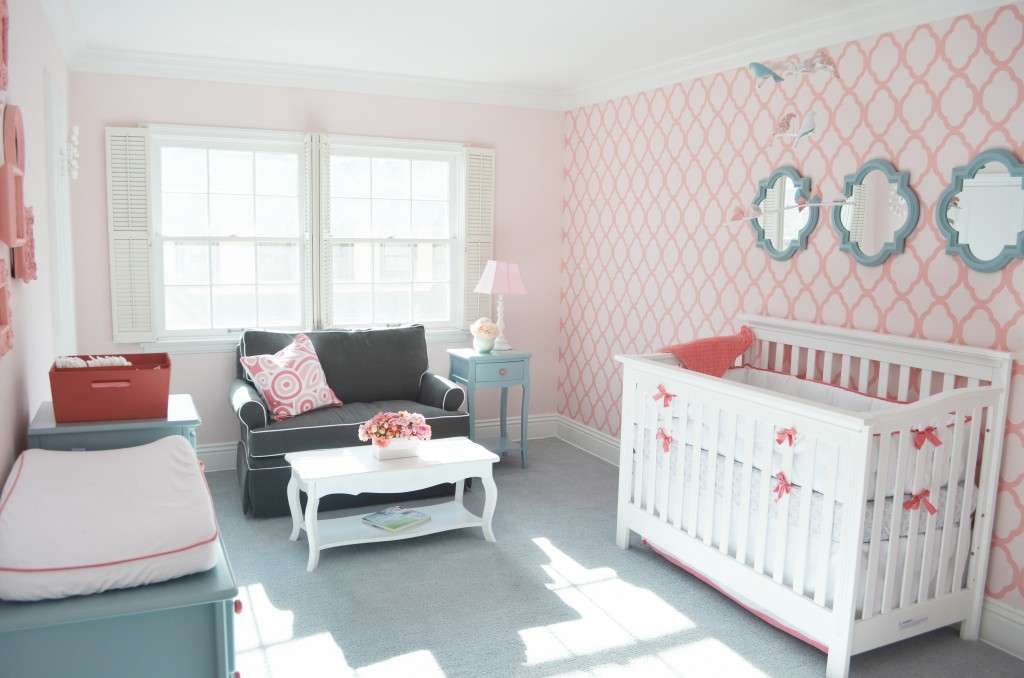 Moroccan Wall Stencil Pattern Vintage Touches Make Nursery