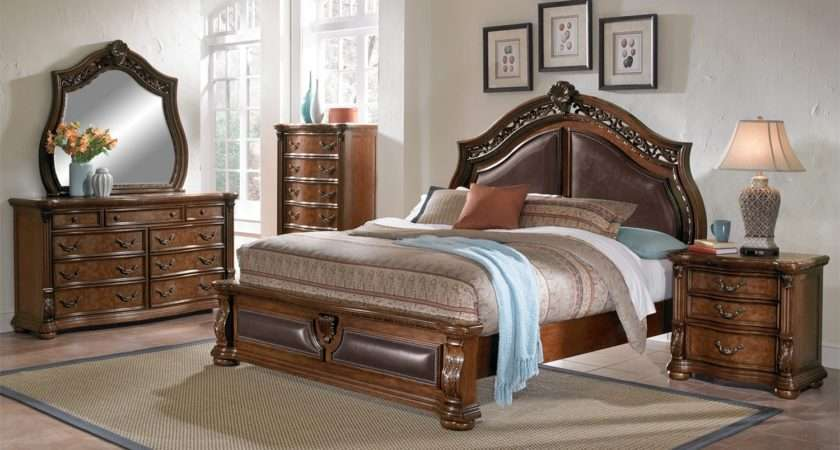 Morocco Queen Bed Pecan Value City Furniture