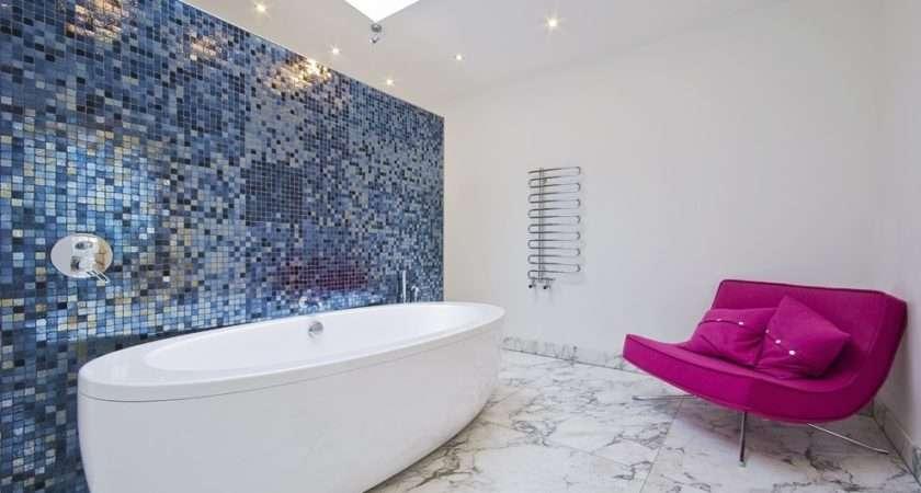 Mosaic Bathroom Wall Tiles Pin Pinterest