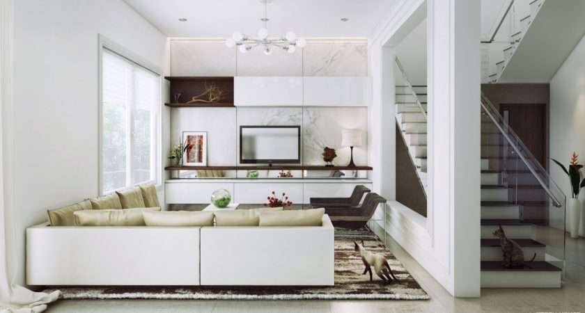 Most Beautiful White Living Rooms Decobizz