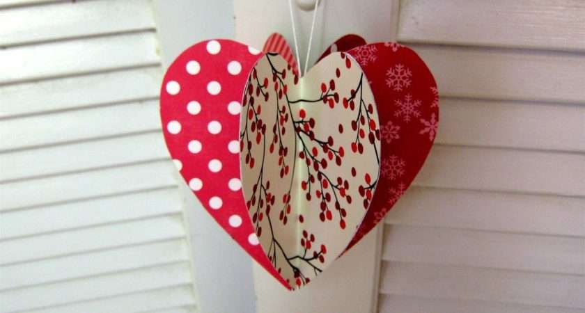 Mothers Day Paper Heart Decoration Card Youtube