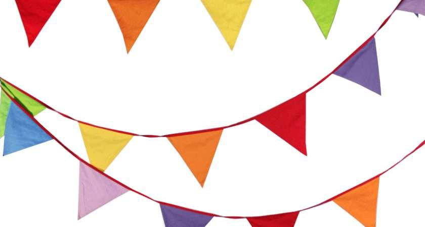 Multi Coloured Rainbow Bunting