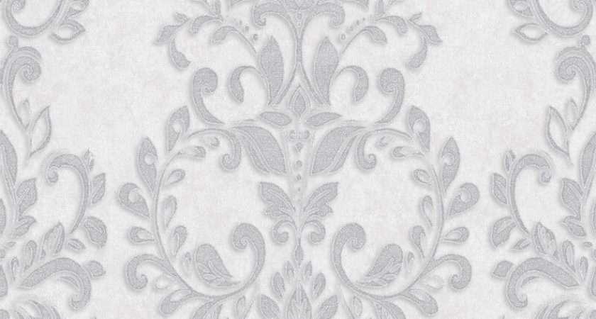 Muriva Serafina Damask Glitter Silver