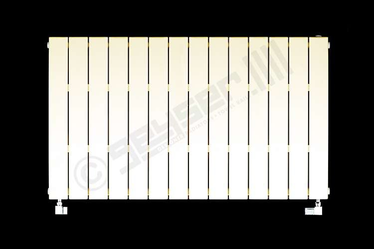 Muro Latte Cream Horizontal Single Panel Designer Radiator