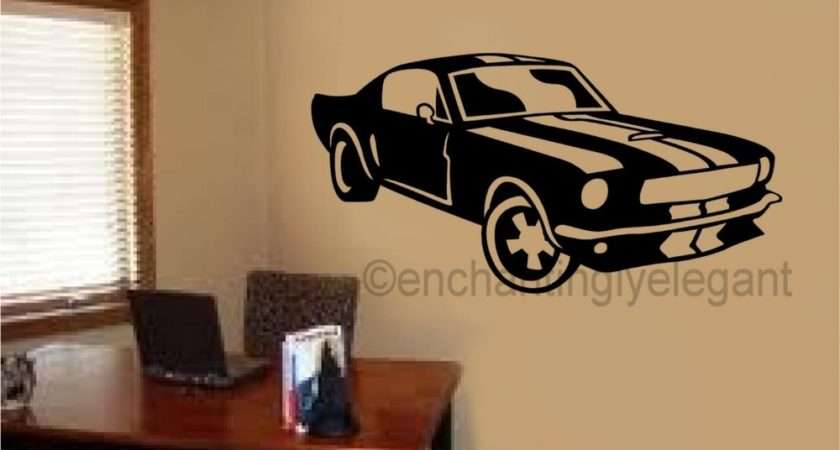 Mustang Shelby Car Vinyl Decal Wall Sticker Office Shop