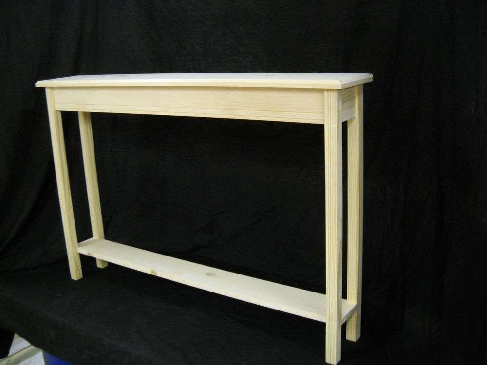 Narrow Console Sofa Foyer Beveled Edge Pine Table Shelf Ebay