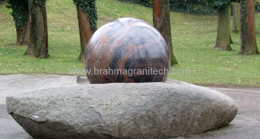 Natural Garden Stone Sphere Water Features India