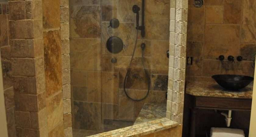 Natural Stone Wall Beautiful Bathroom Designs Glass