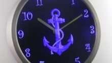 Nautical Sea Ship Decor Neon Sign Led Wall Clock