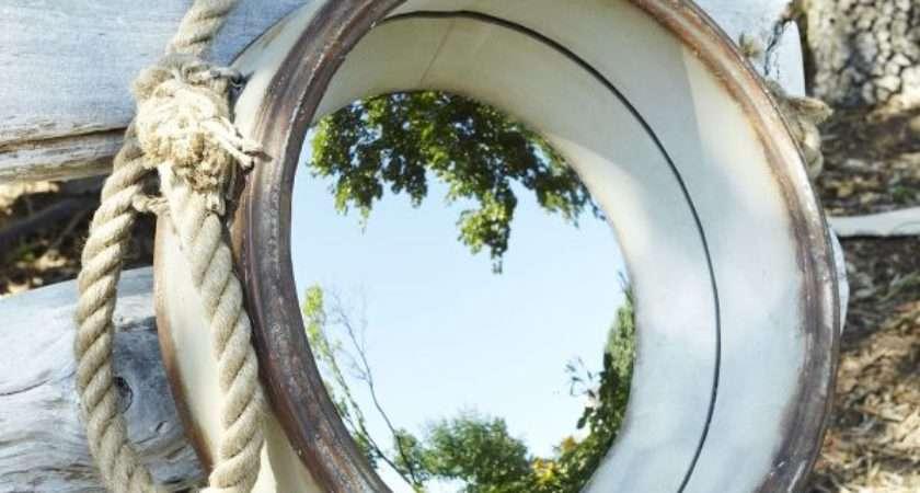 Nautical Style Porthole Mirror