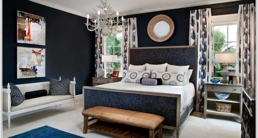 Navy Blue Grey Bedroom Decor Home