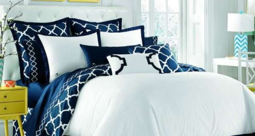 Navy Blue White Bedroom Decorate House