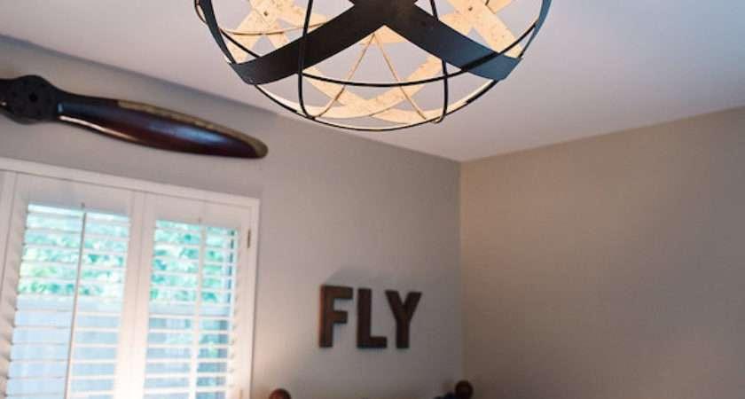 Navy Orange Airplane Bedroom House Harper