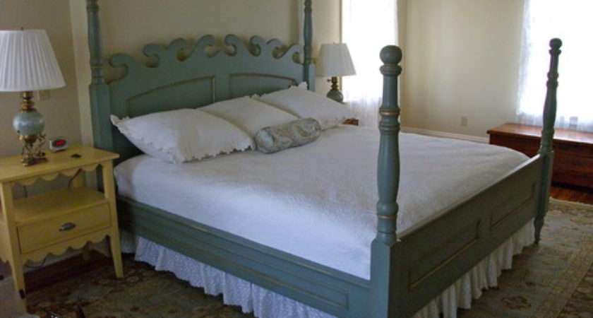 Need Paint White Stained Four Poster Bed