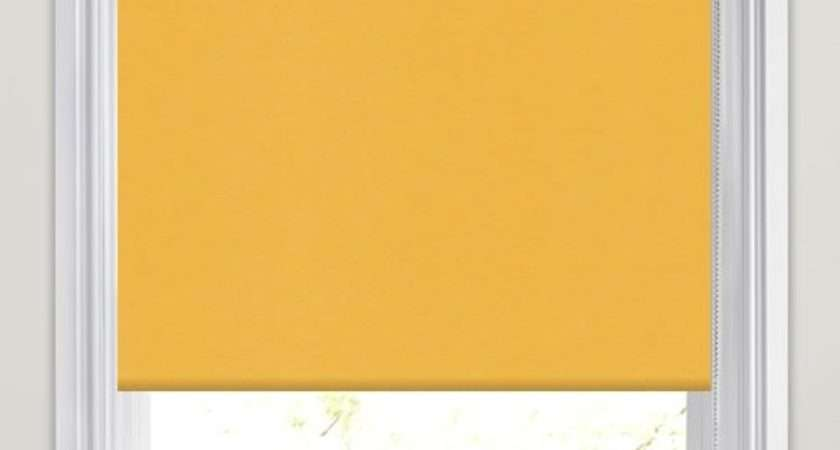 Neo Bright Vibrant Yellow Roller Blinds Made Measure