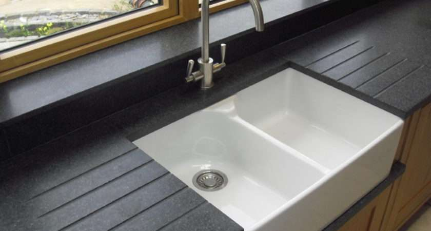 Nero Impala Honed Granite Belfast Sink Drainer